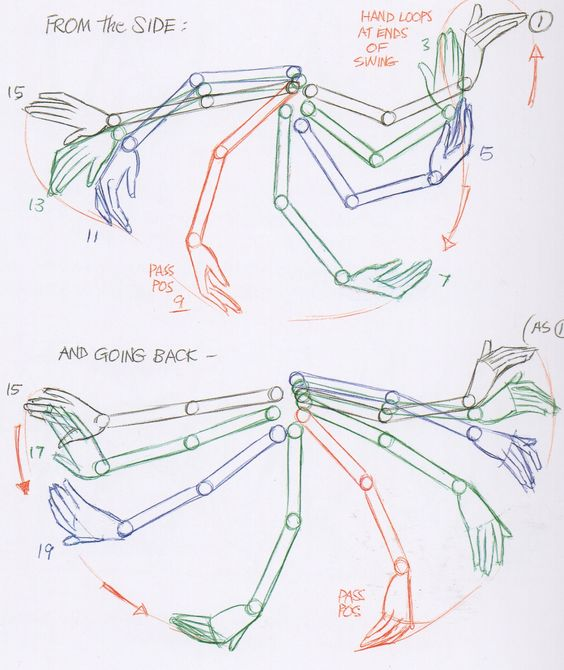 ARMS IN WALK CCYCLE