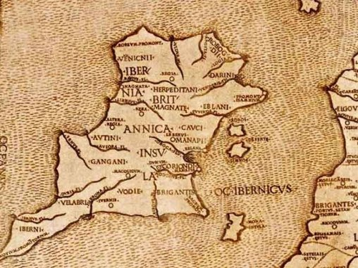 MI PTOLEMYS MAP OF IRELAND c 140 AD